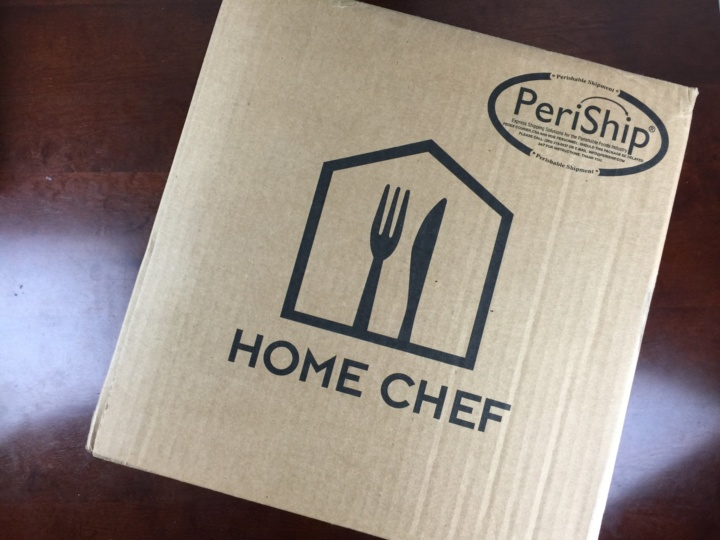 Home Chef Box June 2016 box