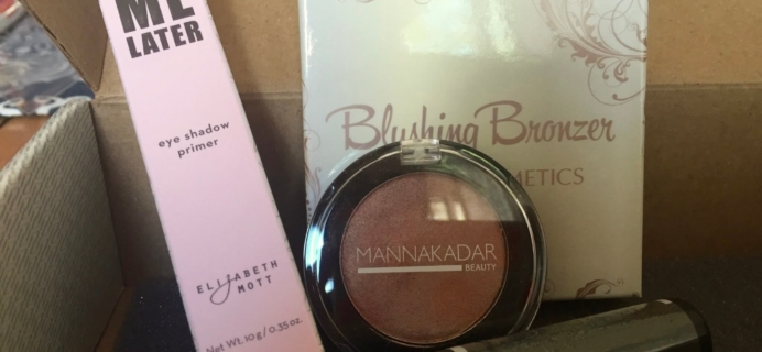 August 2016 Wantable Makeup Subscription Box Review