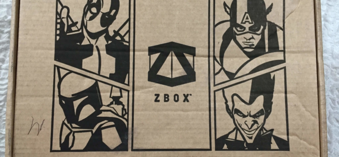 ZBOX June 2016 Subscription Box Review