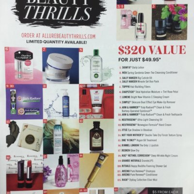 Summer 2016 Allure Beauty Thrills Box Full Spoilers!