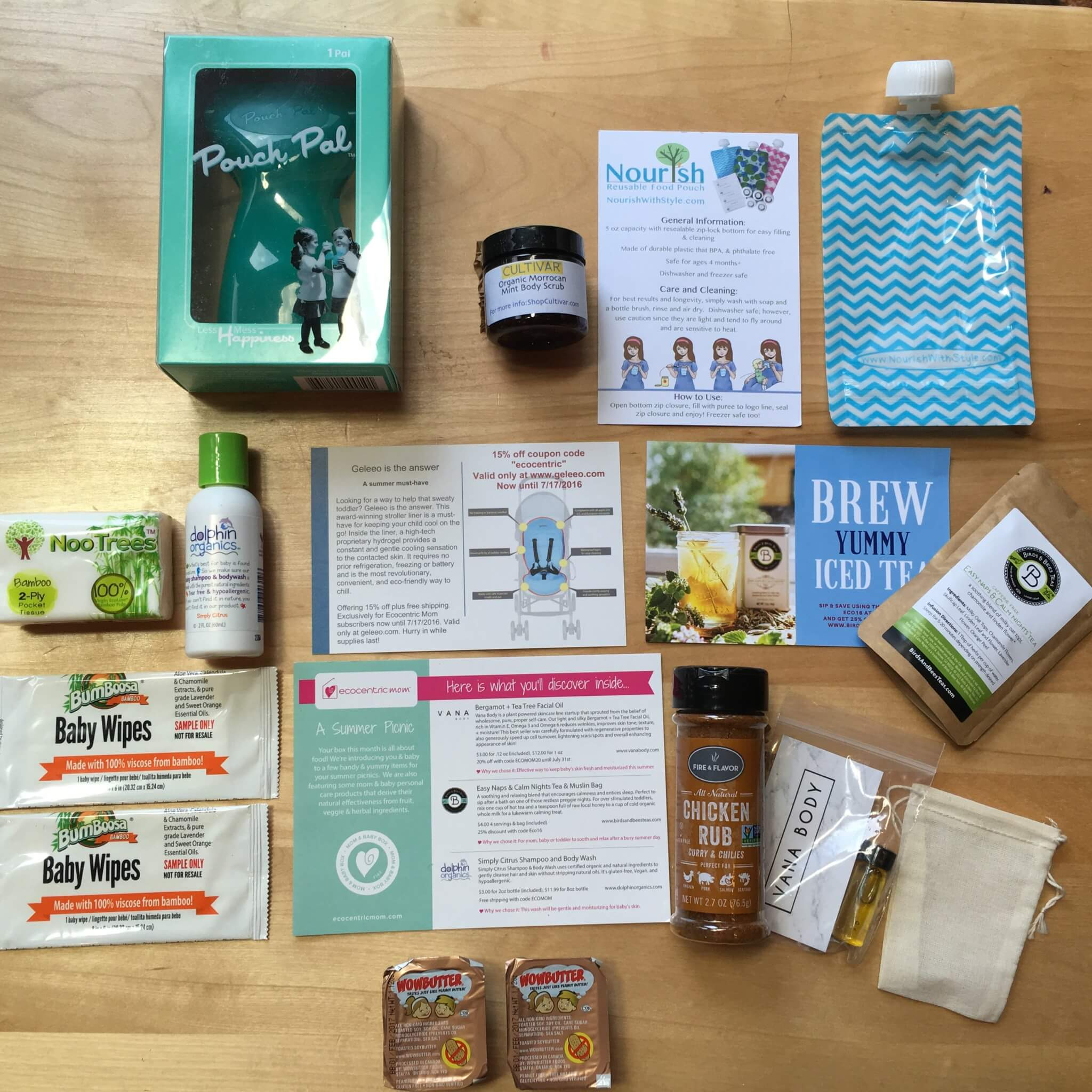 Ecocentric Mom June 2016 Subscription Box Review + Coupon – Mom & Baby Box
