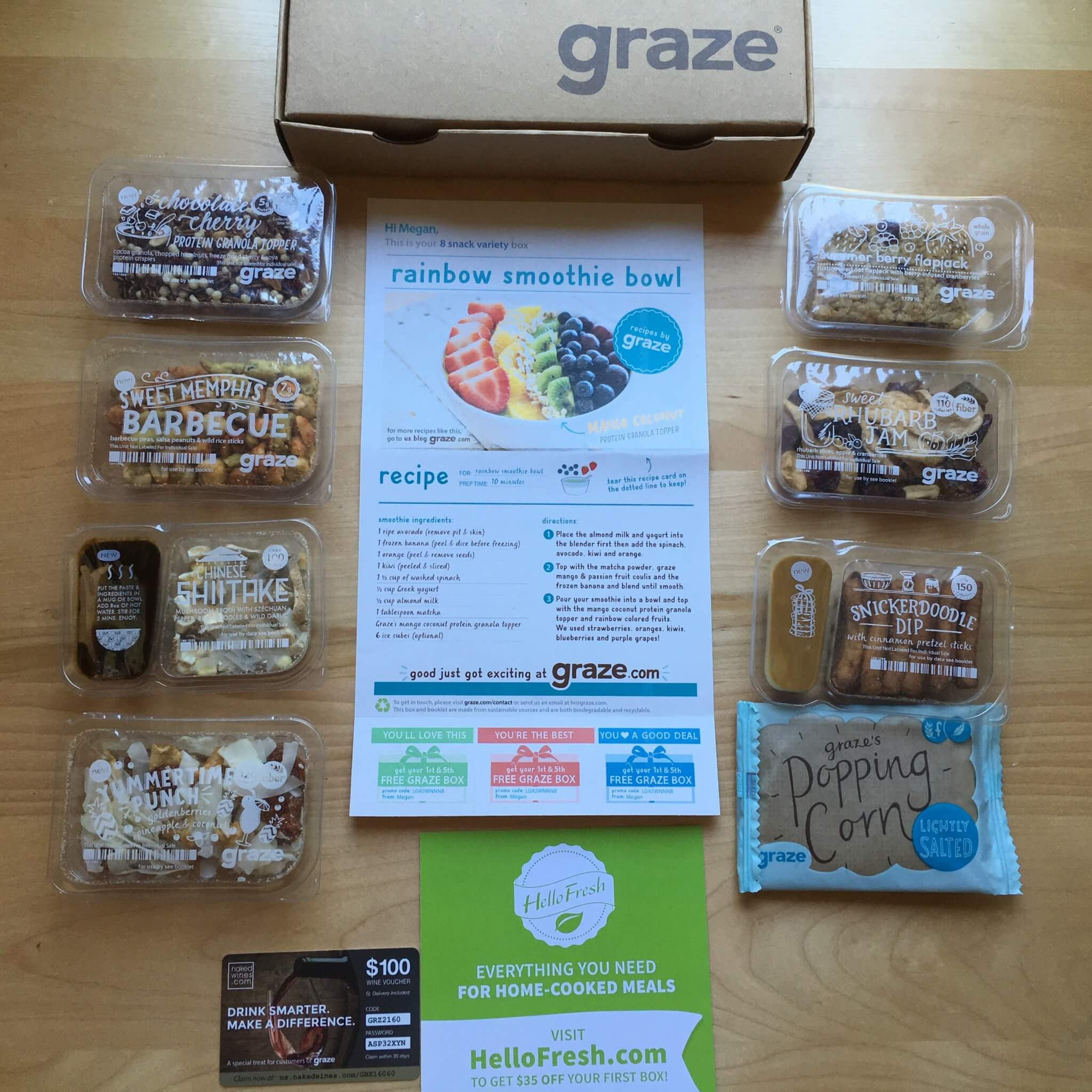 Graze August 2016 Subscription Box Review & Free Box Coupon