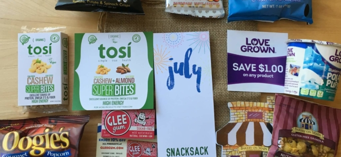 Snack Sack July 2016 Subscription Box Review & Coupon