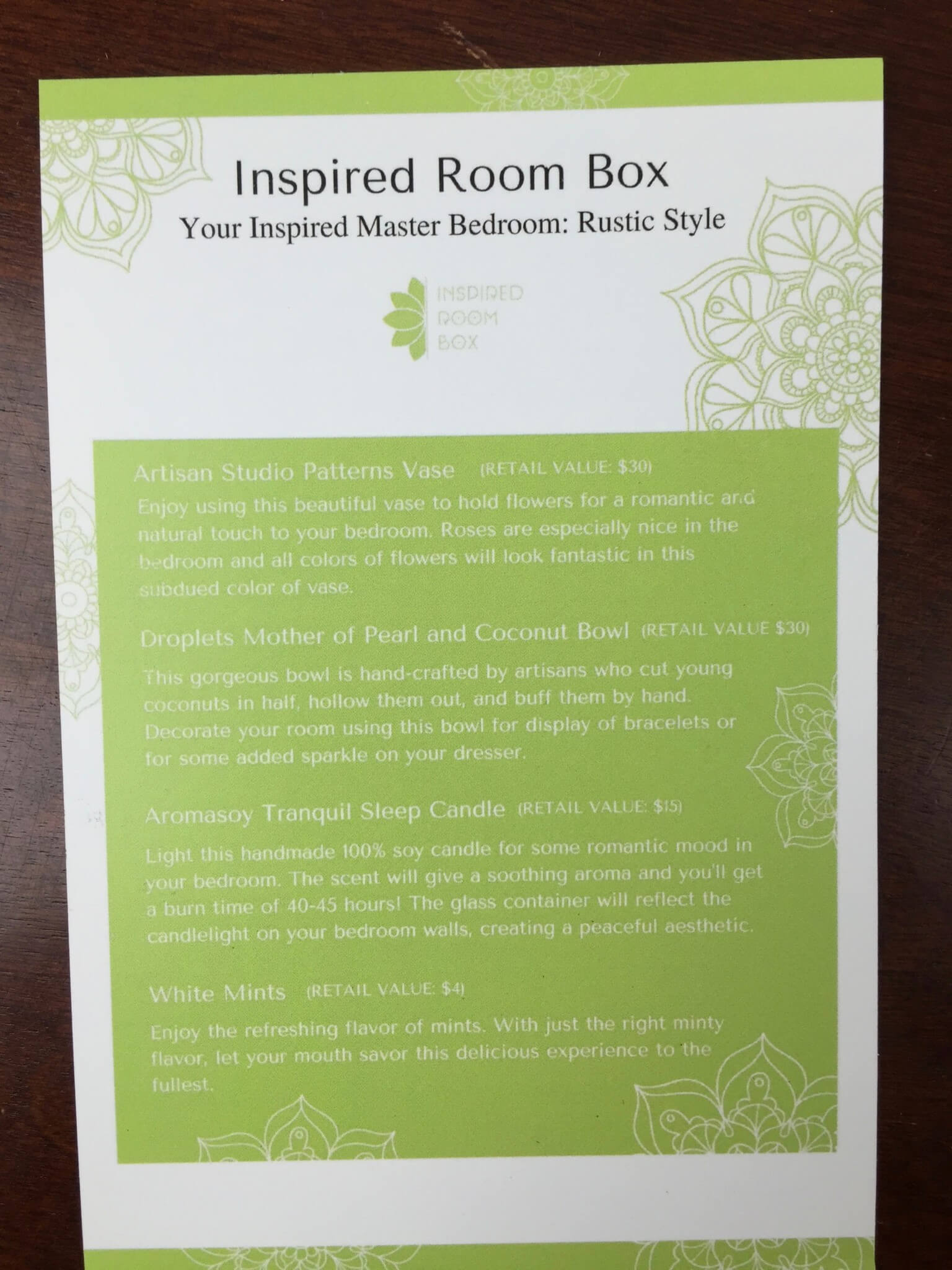 inspired room box june 2016 subscription box review