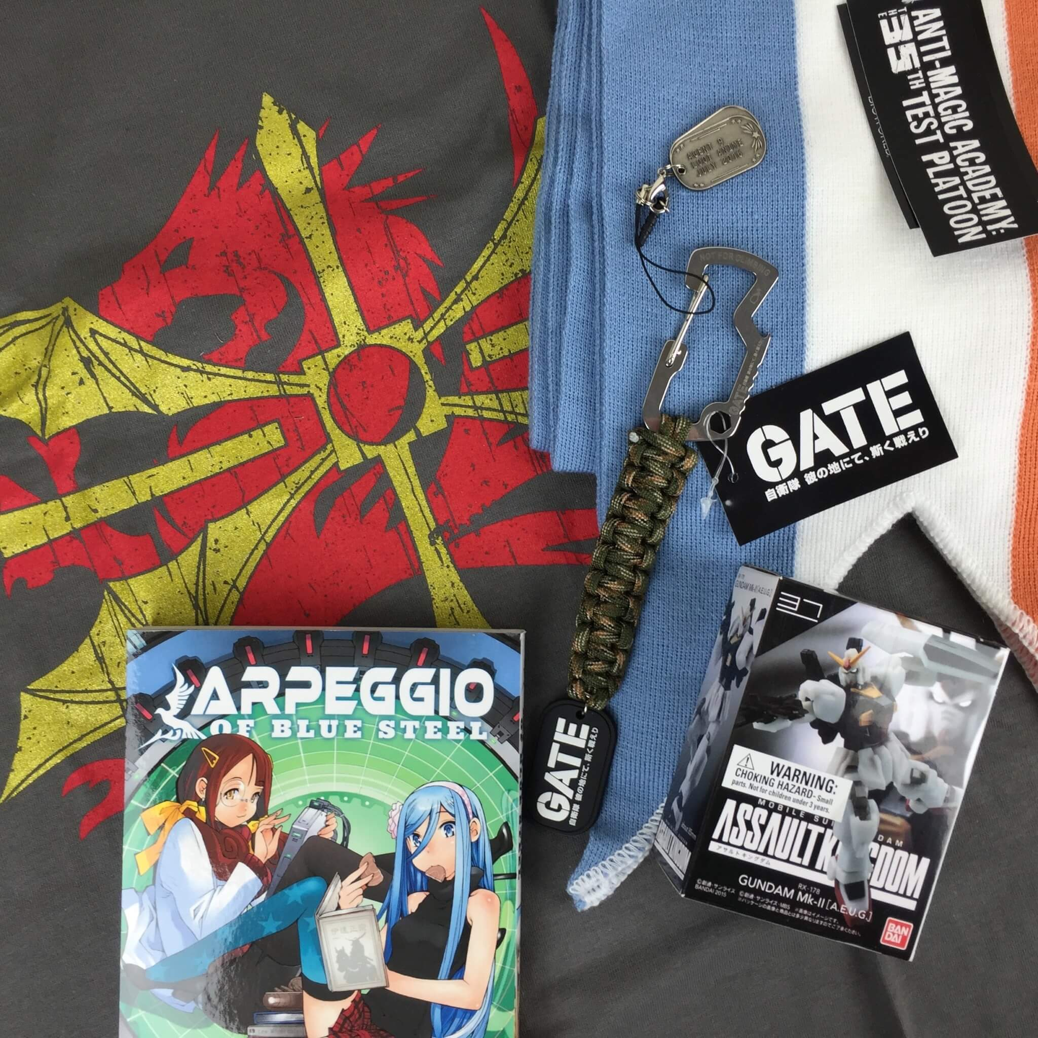 July 2016 Loot Anime Subscription Box Review & Coupons: SQUADRON