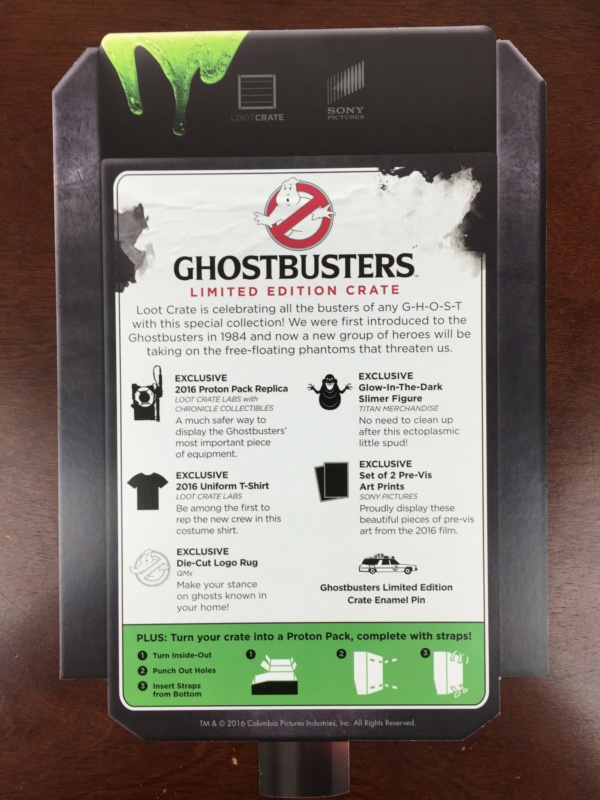 Loot Crate GHOSTBUSTERS Limited Edition Box July 2016 unboxed