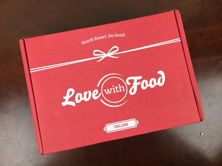 Love With Food Deluxe Box July 2016 box