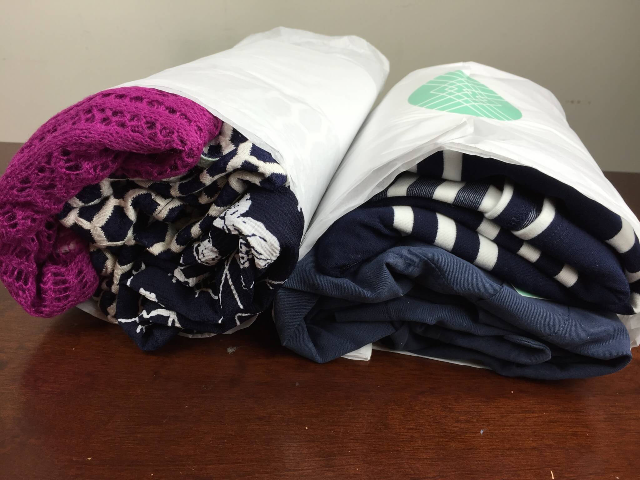 Stitch Fix Box August 2016 unboxed
