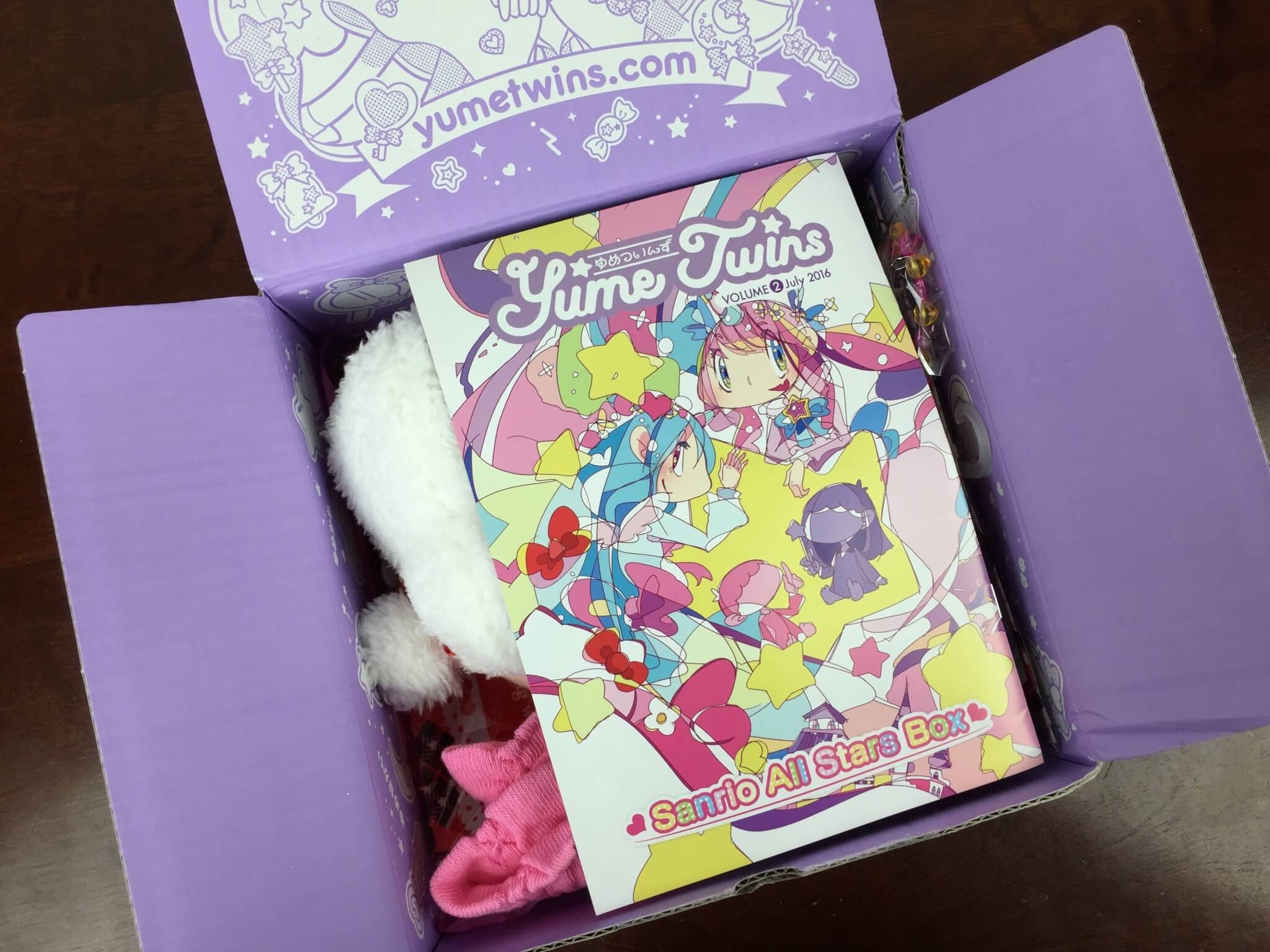 Yume Twins Box July 2016 unboxed