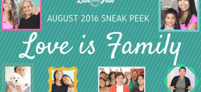 August 2016 Love with Food Spoilers + Coupons