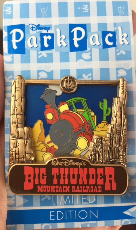 disney park pack pin trading july 2016 big thunder mountain railroad