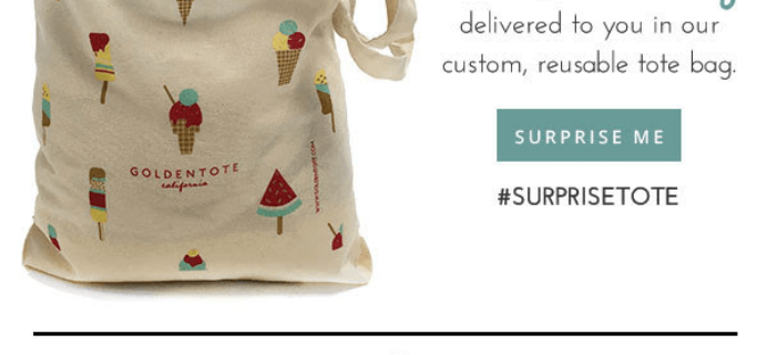 This Weekend Only – Free Shipping at Golden Tote + Surprise Tote!