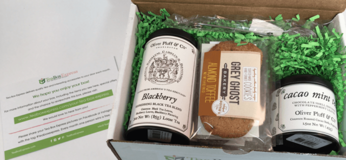 Tea Box Express July 2016 Subscription Review & Coupon