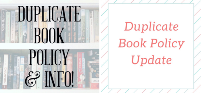OwlCrate & Uppercase Box Duplicate Book Announcement