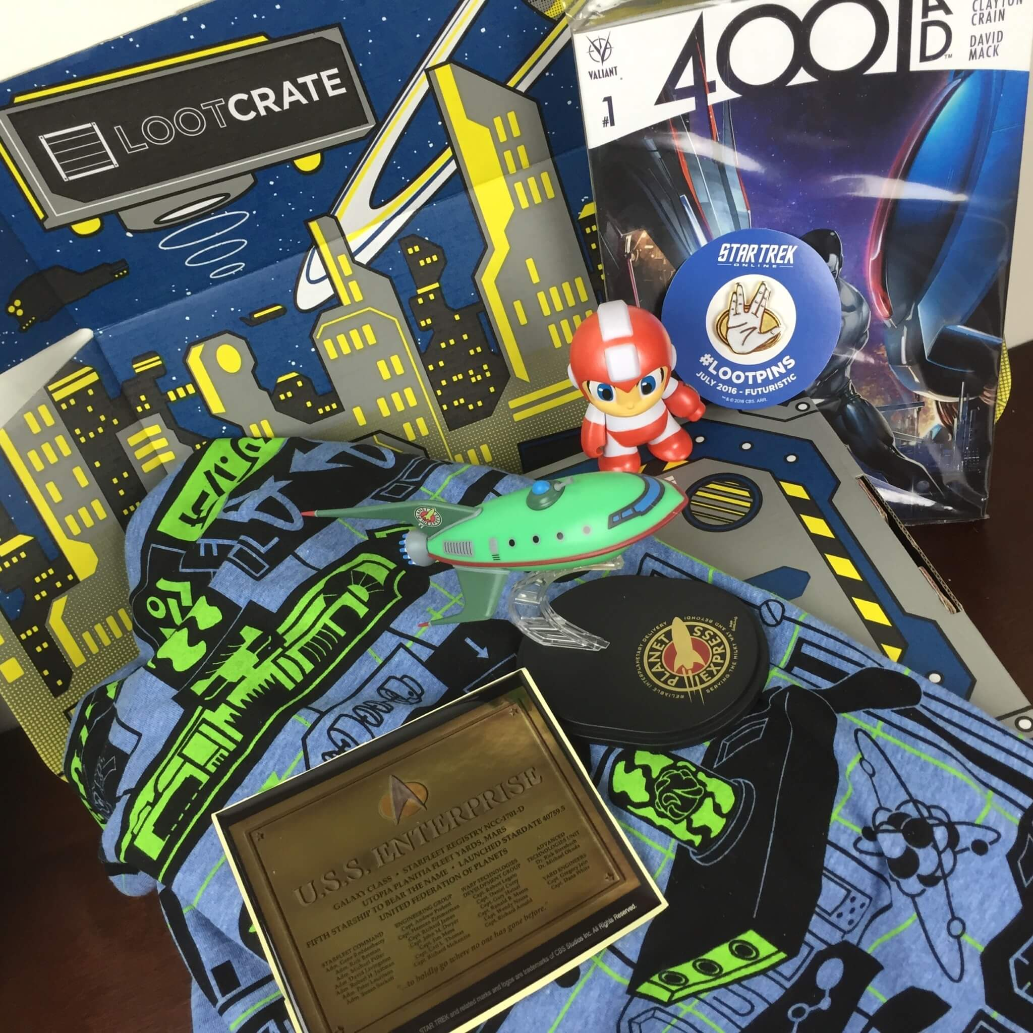 Loot Crate July 2016 Review + Coupons – FUTURISTIC