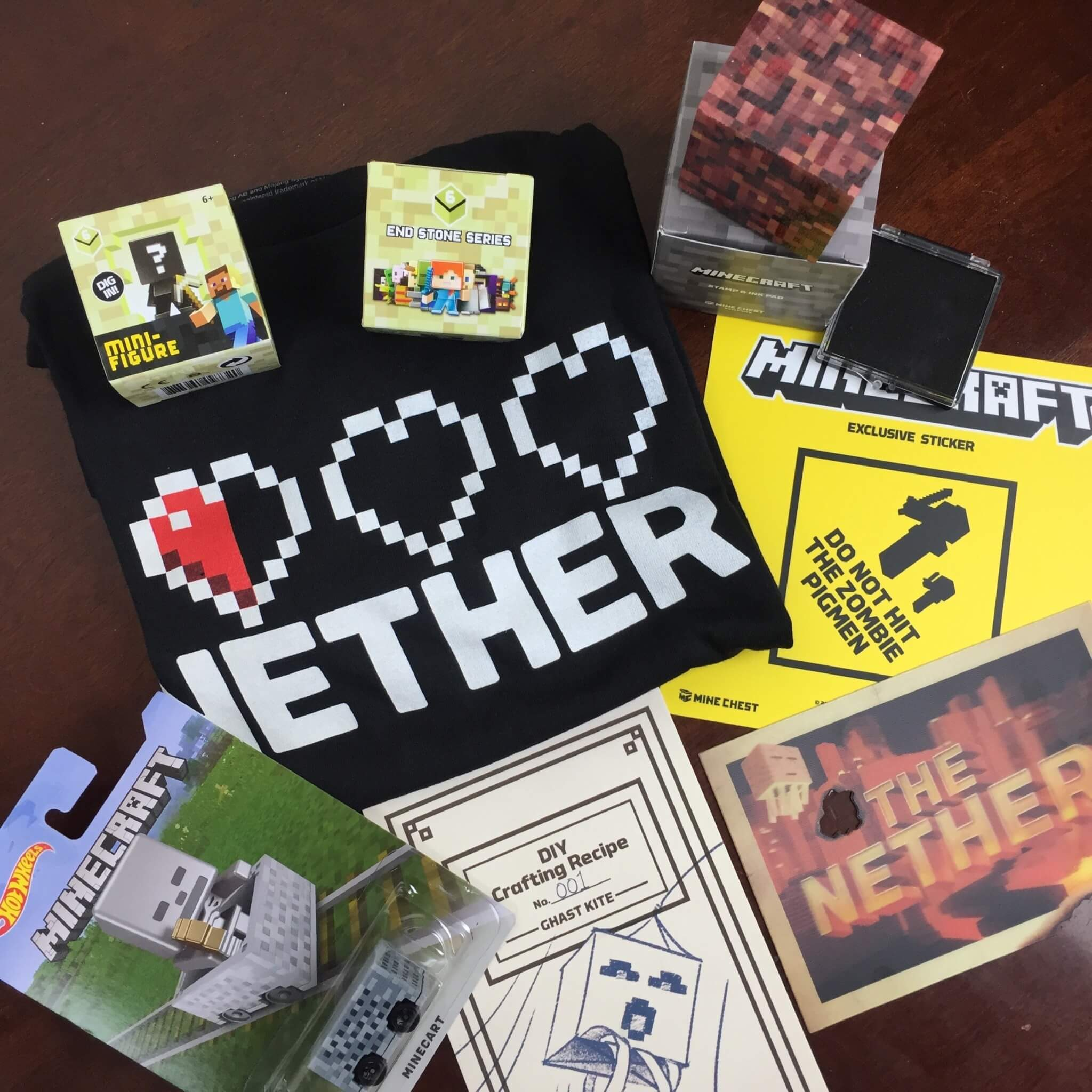 Mine Chest June 2016 Subscription Box Review – The Nether