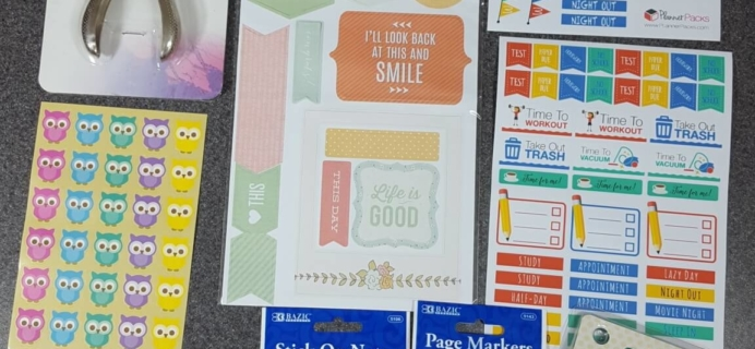Planner Packs July 2016 Subscription Box Review & Coupon