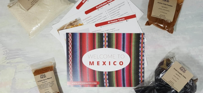 "Spiced Pantry July 2016 Subscription Box Review – ""Mexico"""