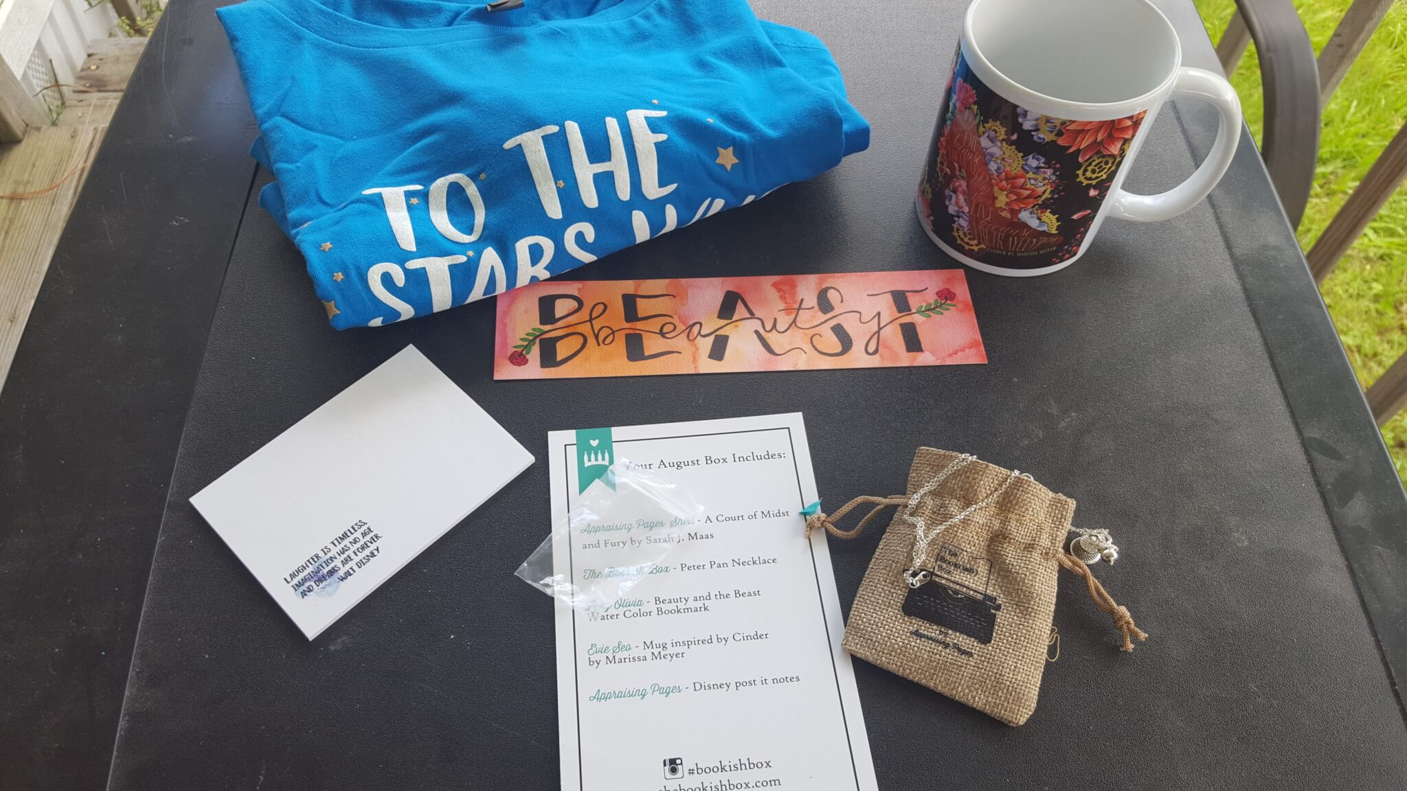 The Bookish Box August 2016 Subscription Box Review