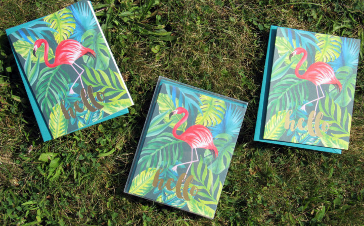 Papersource Flamingo Stationary Cards
