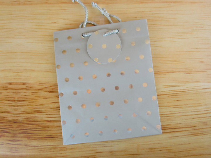 Silver Classic Dots Gift Bag