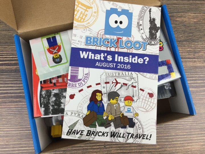 Brick Loot August 2016 unboxed