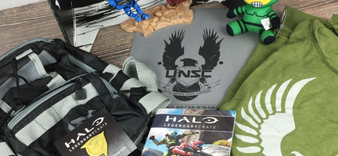 Halo Legendary Crate August-September 2016 Subscription Box Review + Coupon