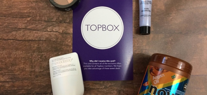 Topbox August 2016 Subscription Box Review