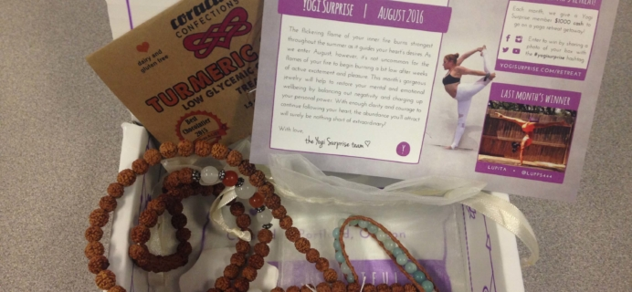Yogi Surprise Jewelry Box August 2016 Subscription Review & Coupon