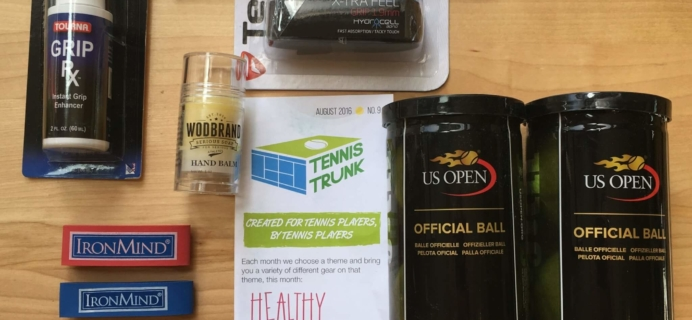 Tennis Trunk August 2016 Subscription Box Review & Coupon