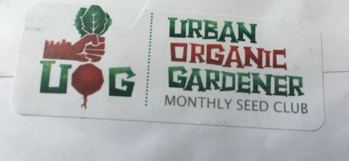 Urban Organic Gardener October 2016 Subscription Box Review + Coupon