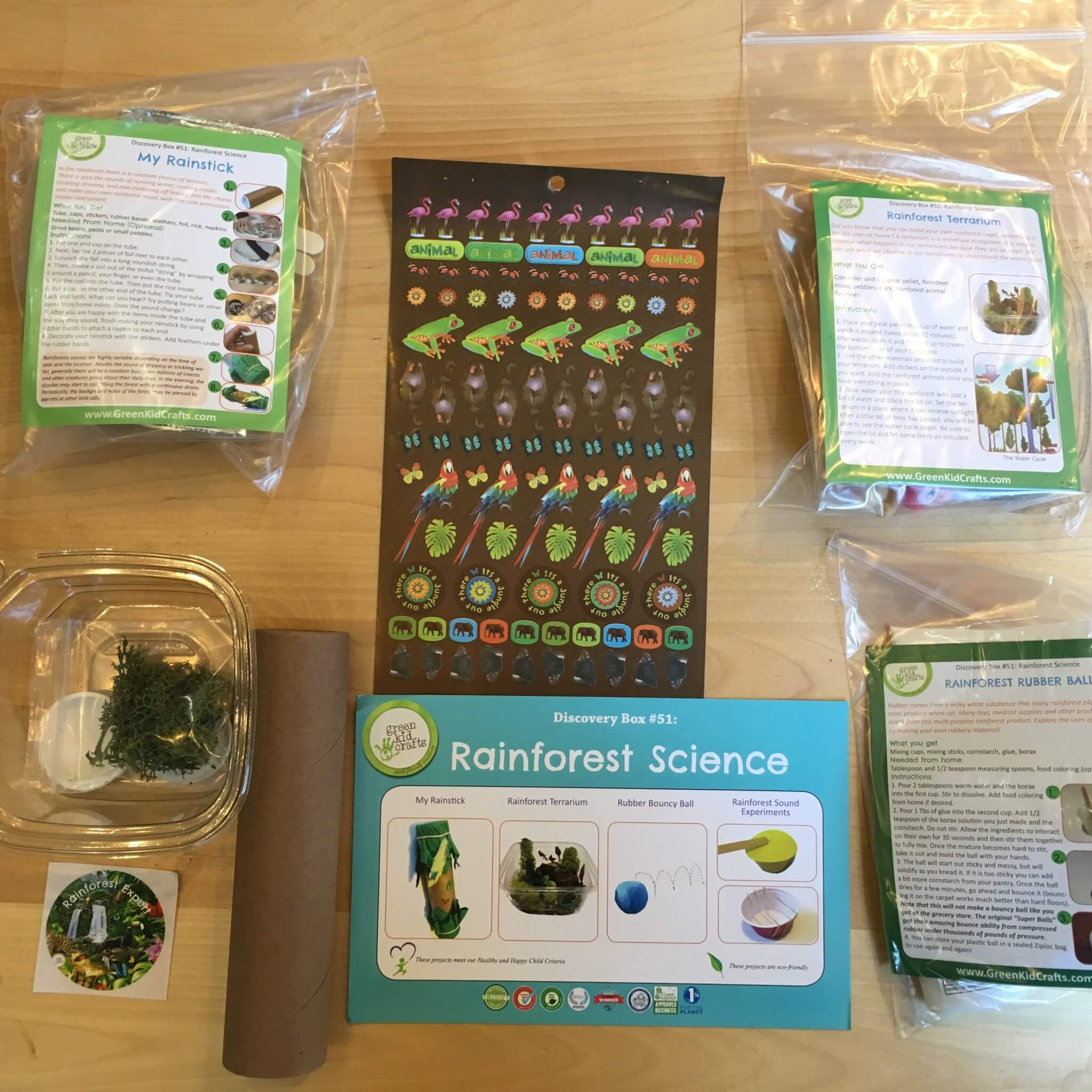 Green Kid Crafts August 2016 Rainforest Science Subscription Box Review + Coupon