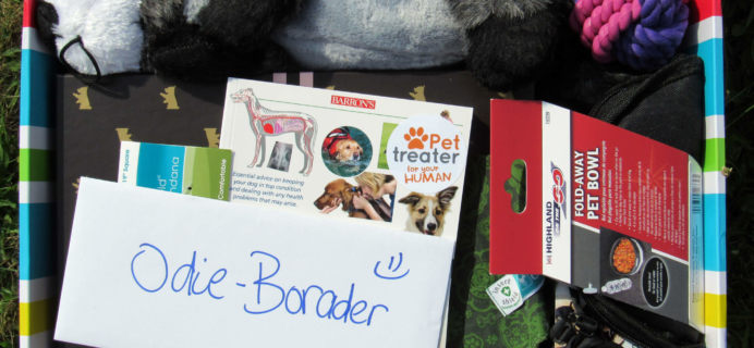 Pet Treater August 2016 Dog Subscription Box Review + Free Pet Bed Coupon
