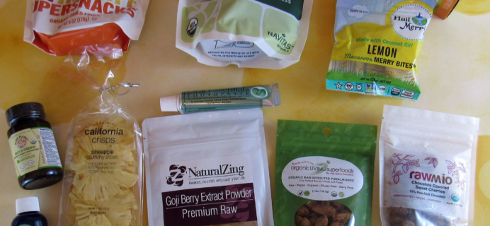 August 2016 RawBox Subscription Box Review & Coupon