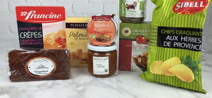 August 2016 Yummy Bazaar Full Experience Subscription Box Review –  France
