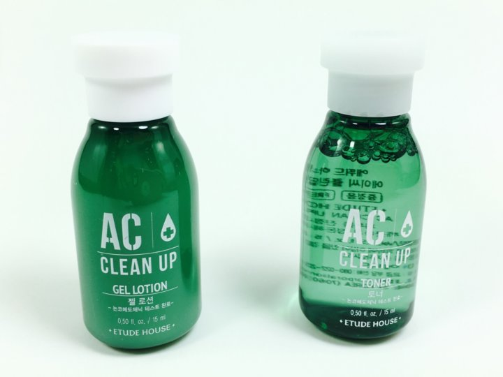 Etude House AC Clean Up Gel Lotion ($1.13) and Clean Up Toner ($1.13) contain cypress water, tea tree oil, and salicylic acid and are great for acne prone ...