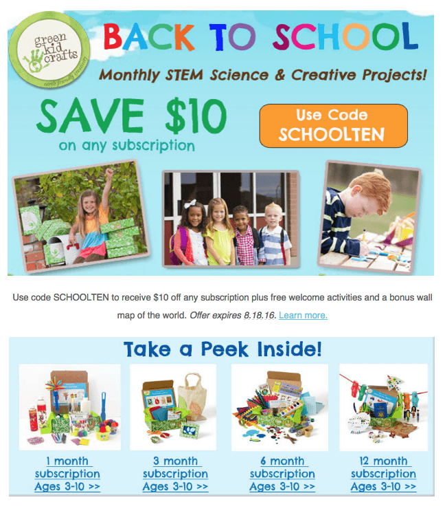 Green Kid Crafts Coupon: 50% Off First Month!