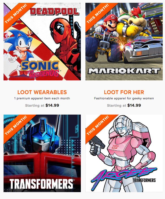 september 2016 loot wear spoilers coupons level up by loot crate