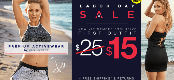Fabletics Labor Day Coupon: First Yoga & Workout Outfit Just $15!