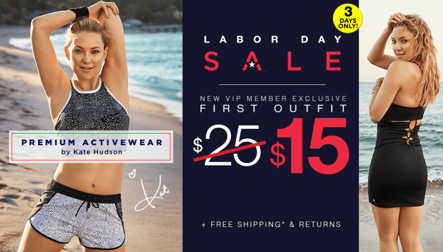 EXTENDED Fabletics Labor Day Coupon: First Yoga & Workout Outfit Just $15!