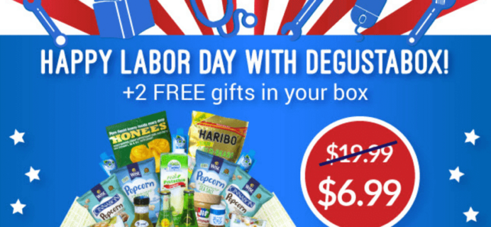 Degustabox Labor Day Coupon: First Box $6.99!