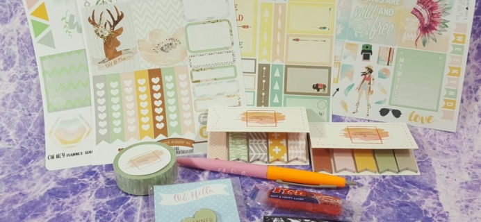 The Planner Addict Box August 2016 Subscription Box Review