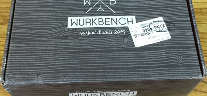Wurkbench September 2016 Adult Subscription Box Review