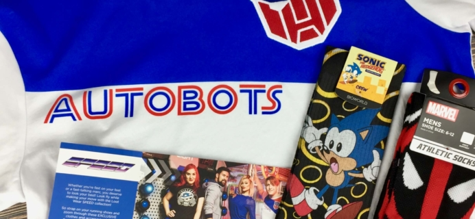 September 2016 Loot Wear by Loot Crate Wearables & Socks Bundle Review & Coupon
