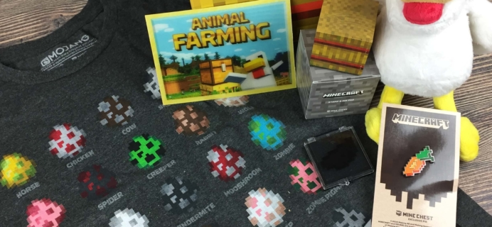 Mine Chest September 2016 Subscription Box Review – Animal Farming!