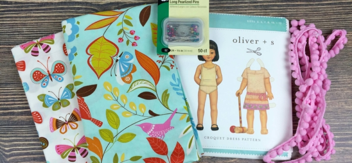 Stitch Box Monthly September 2016 Subscription Box Review