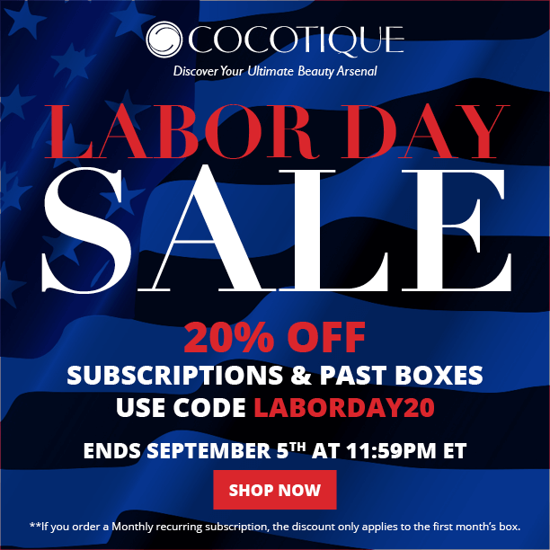 Cocotique Labor Day Coupon – 20% off all Subscriptions