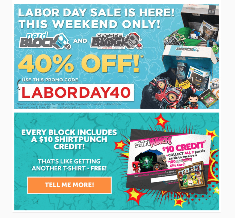 This Weekend Only: 40% Off First Nerd Block Coupon