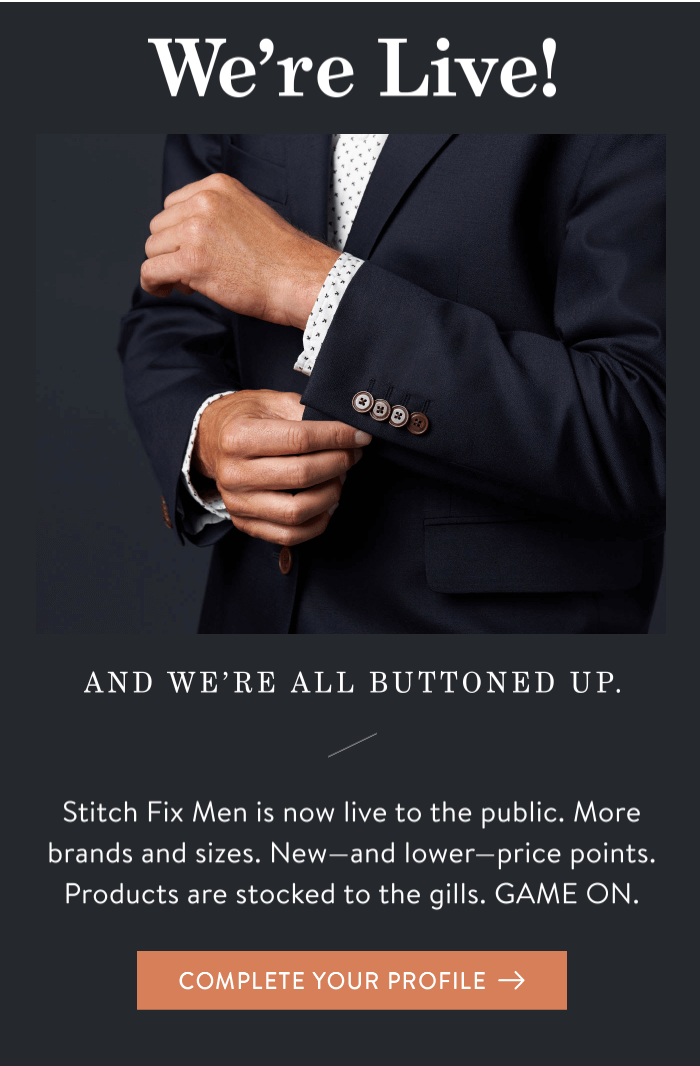 Stitch Fix Men Available Now!
