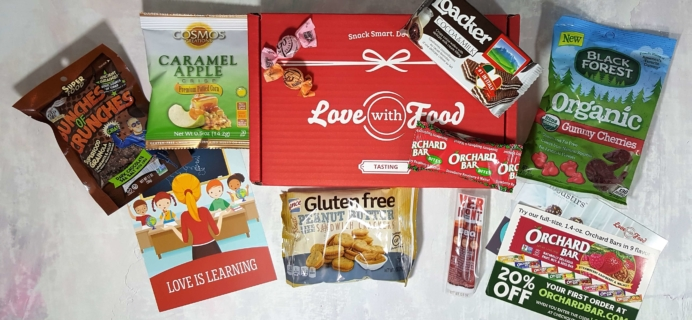 September 2016 Love With Food Subscription Box Review + Coupons